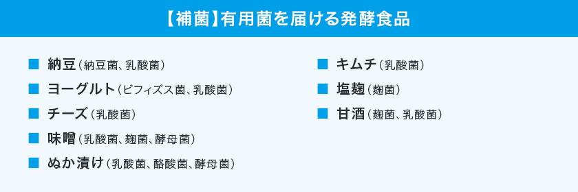 【補菌】有用菌を届ける発酵食品