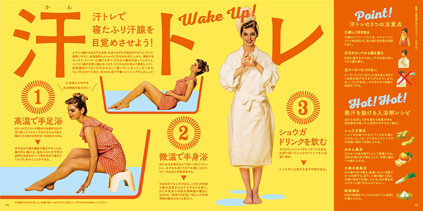 HGM vol.26「体臭」 pp.14-15『Wake Up! 汗トレ』