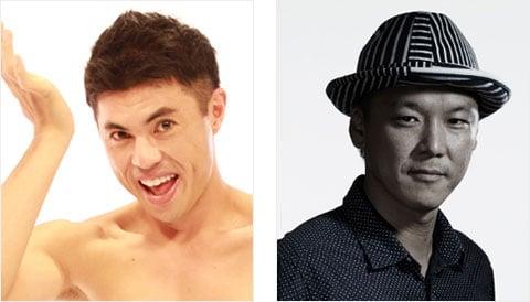 左)小島よしお氏(お笑い芸人) 右)百々新氏(フォトグラファー)