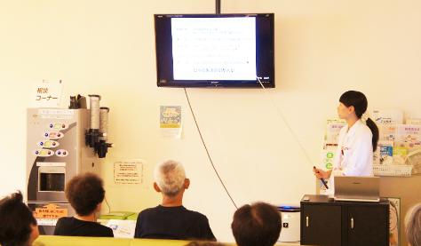 地域の方向けに、生活習慣・栄養相談など、健康に関する相談や勉強会を実施しています。