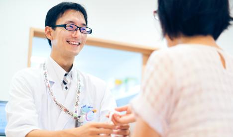 健康サポートに関する専門の研修を修了した薬剤師が常駐しています。