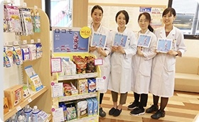 アイセイ薬局 駿河台店での物販展開の様子