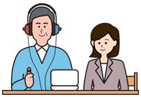 ご自宅にて聴力測定