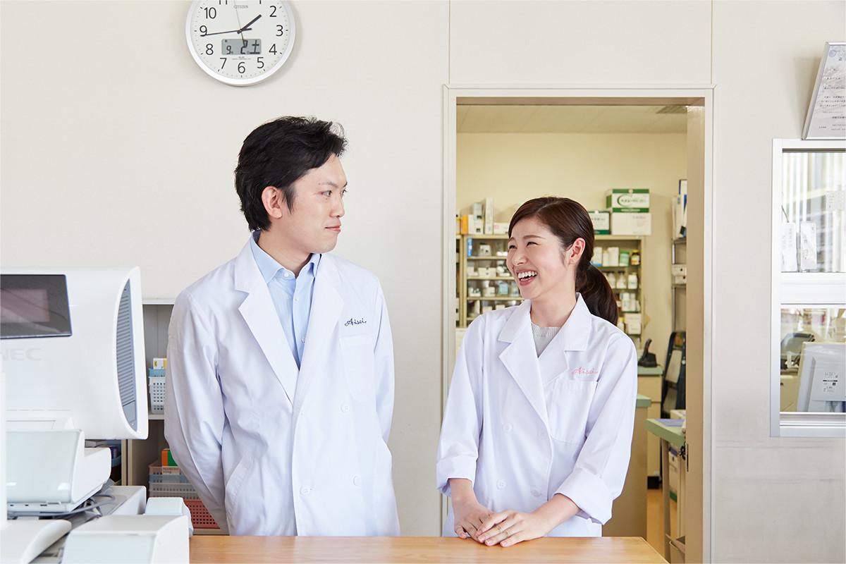 患者さまとしっかり向き合うために、オンもオフも笑顔で。